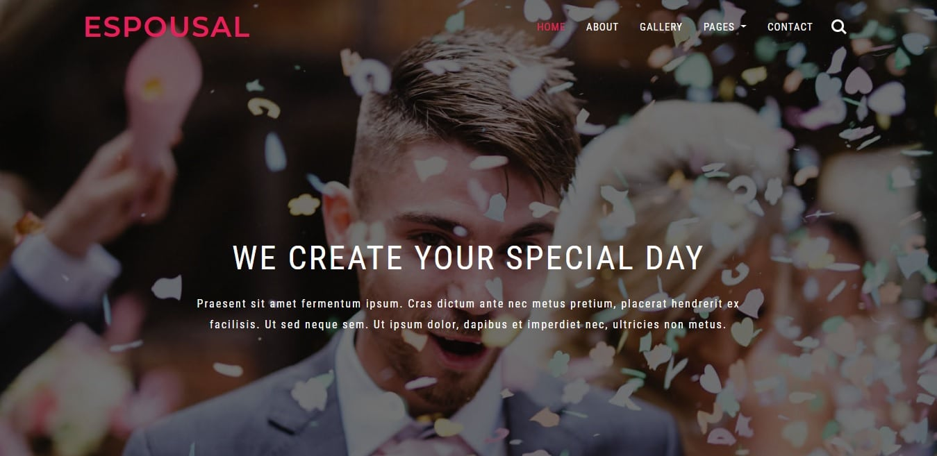 espousal wedding website template