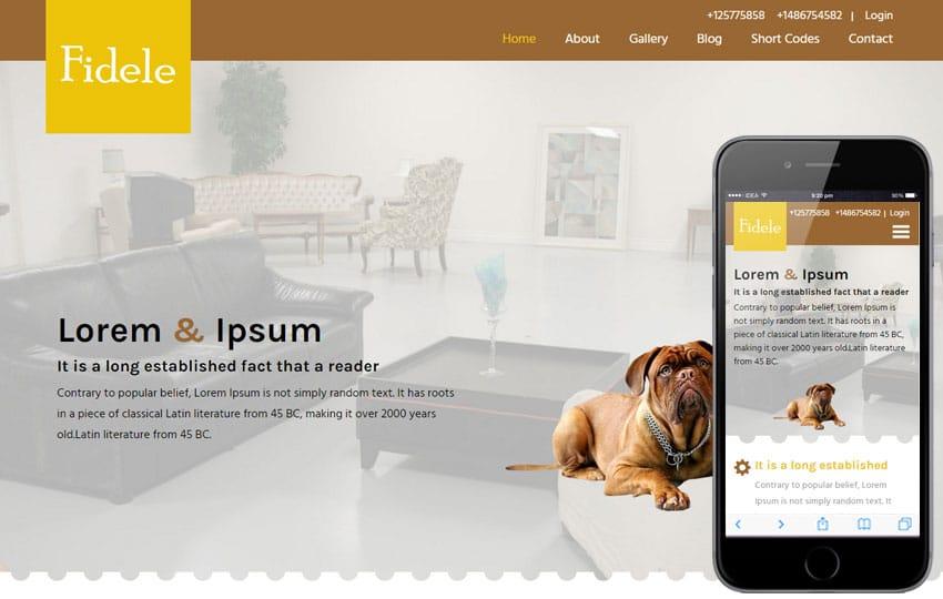 fidele-animal-pet-website-template