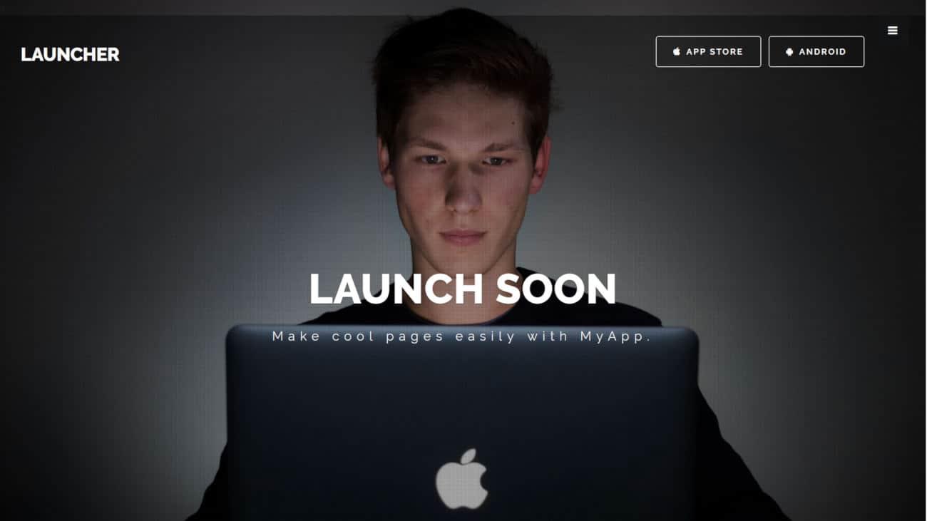 launcher mobile app templates