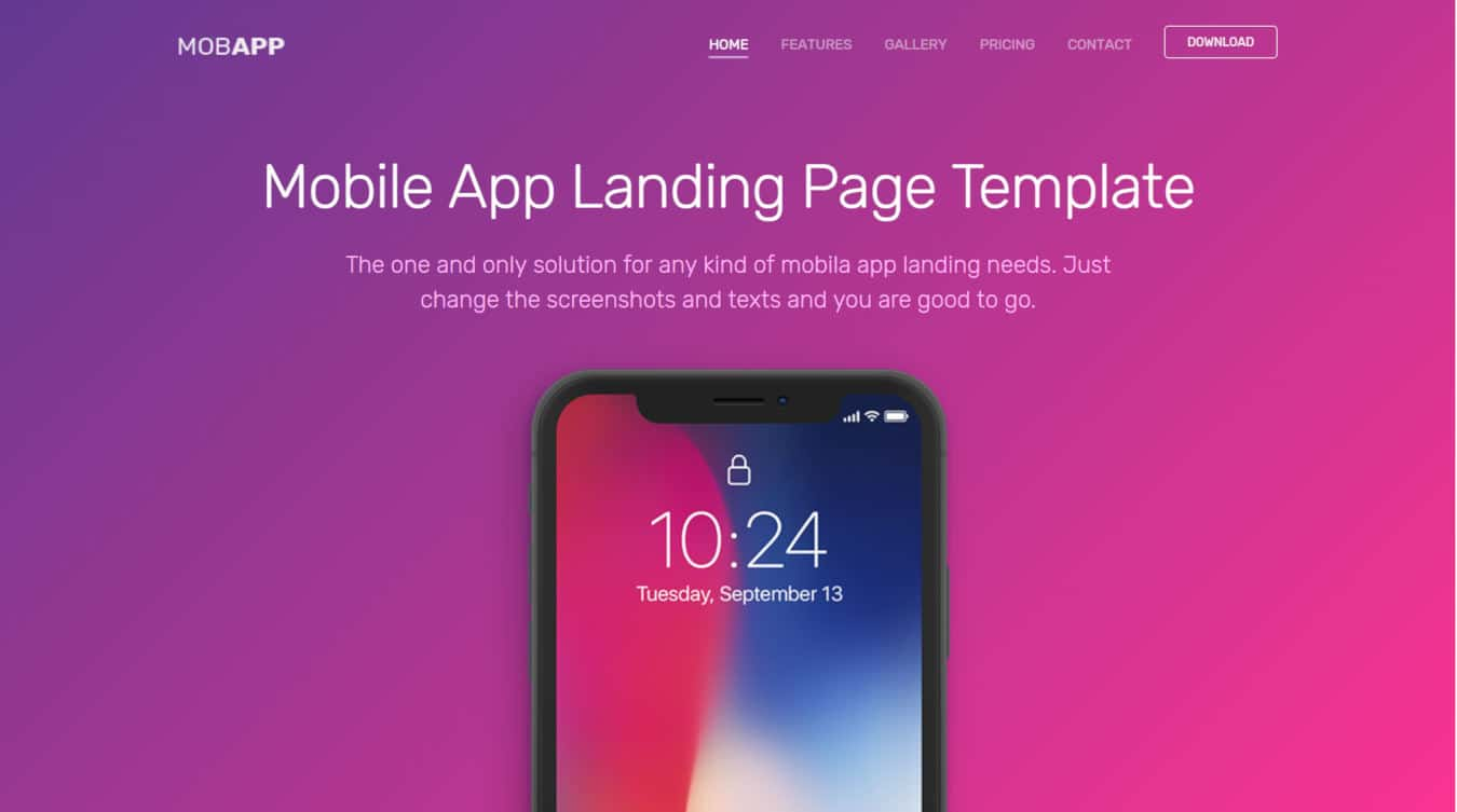 mobapp mobile app templates