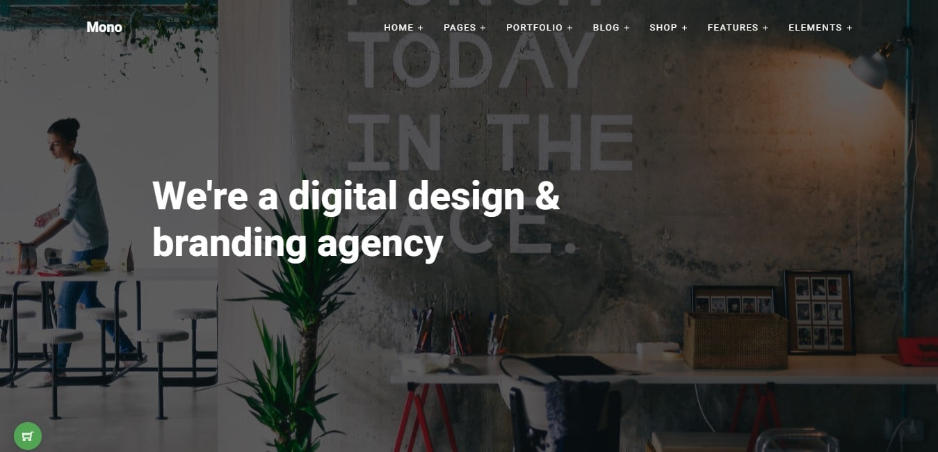 mono business website template
