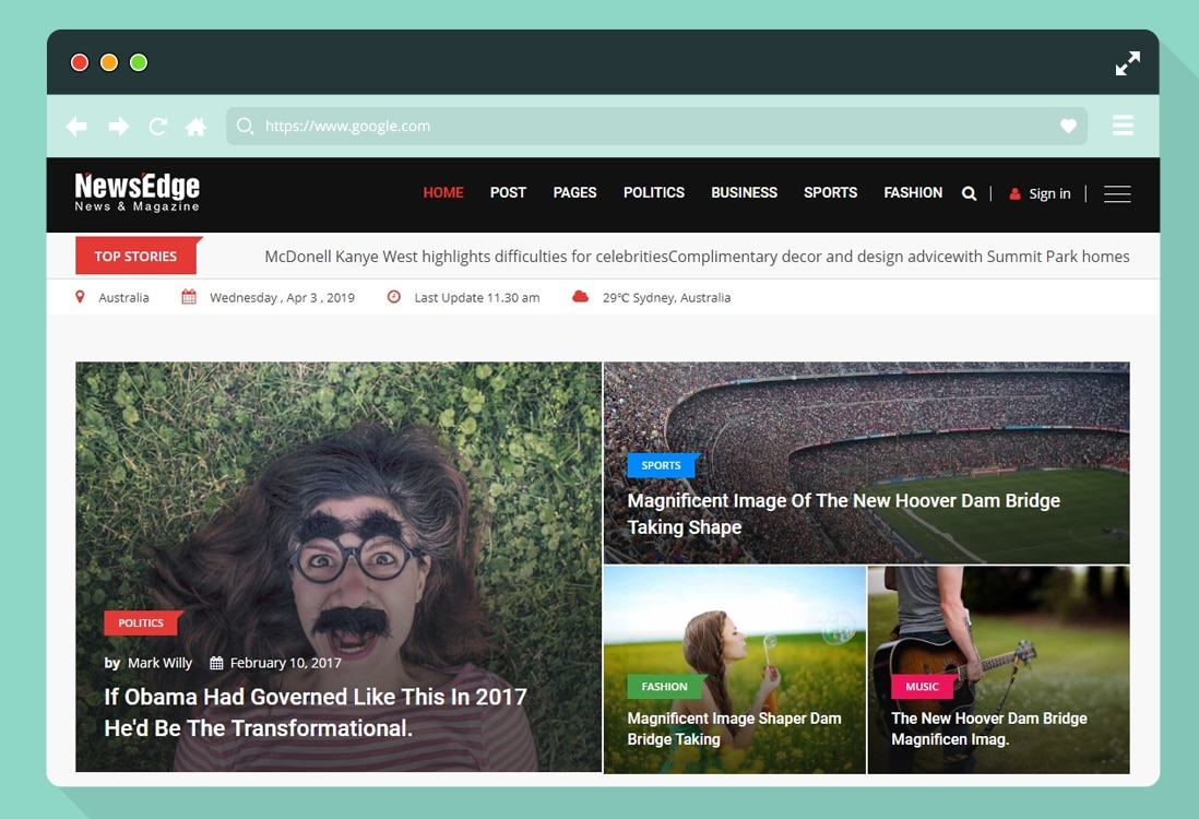 news website templates