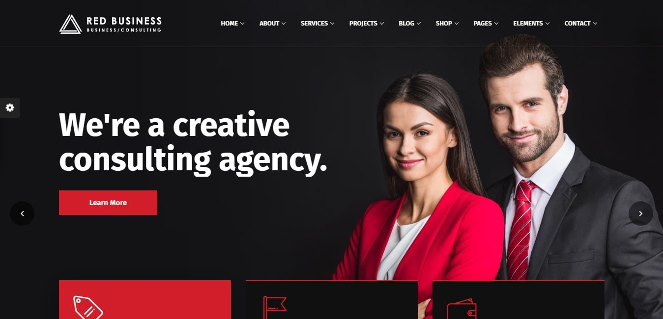 redbiz business website template