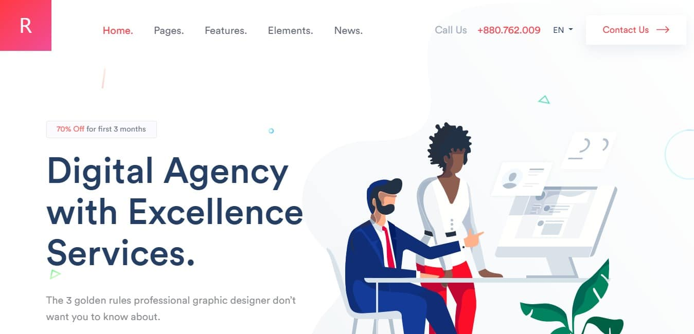 rogan business website template