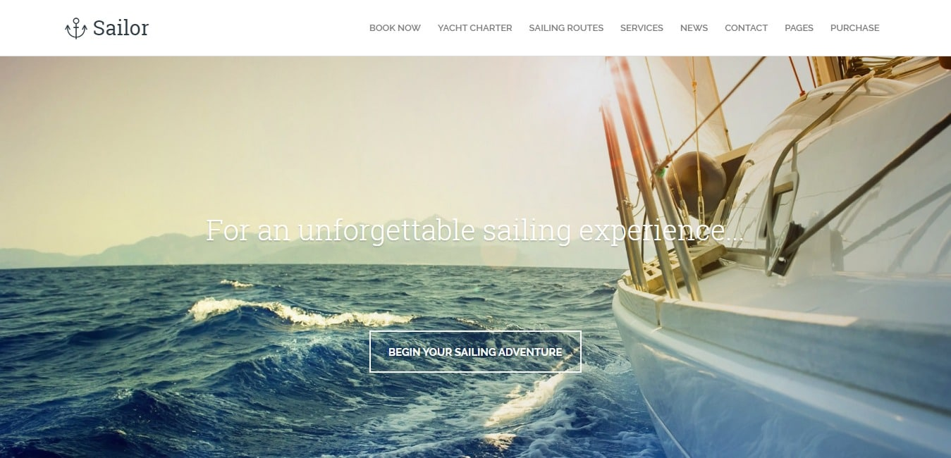 sailor HTML travel site template