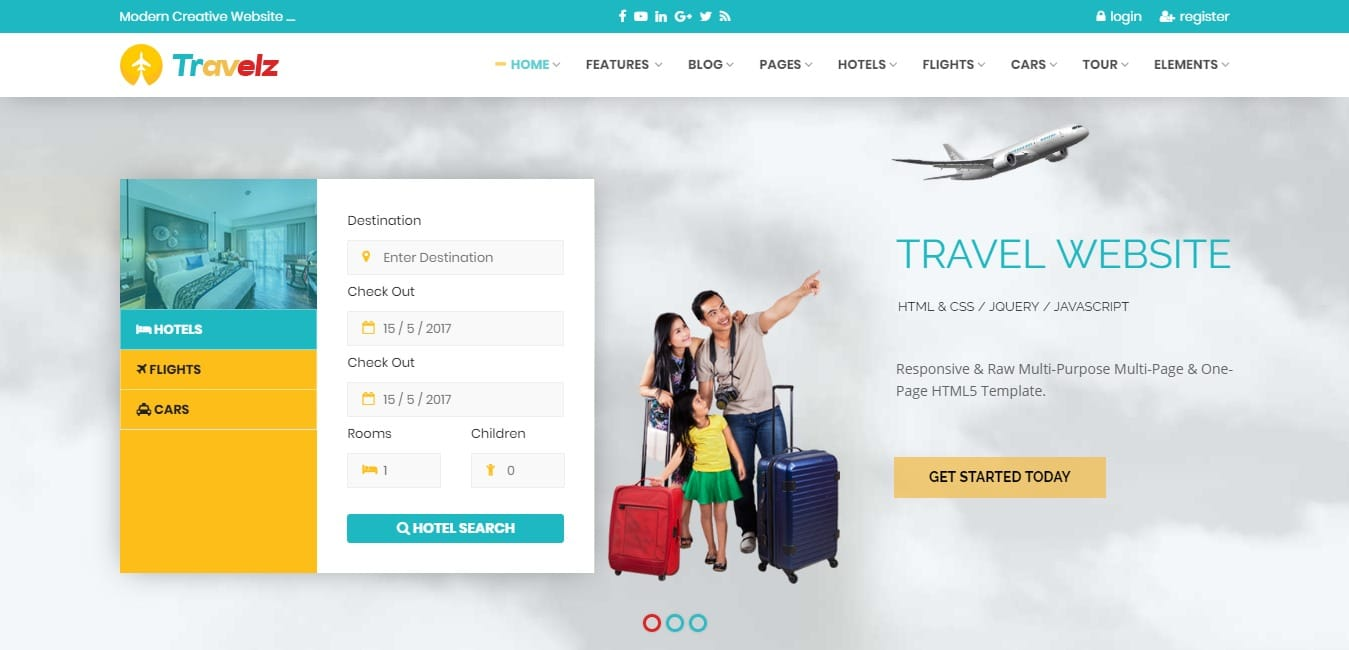 travelz HTML travel site template
