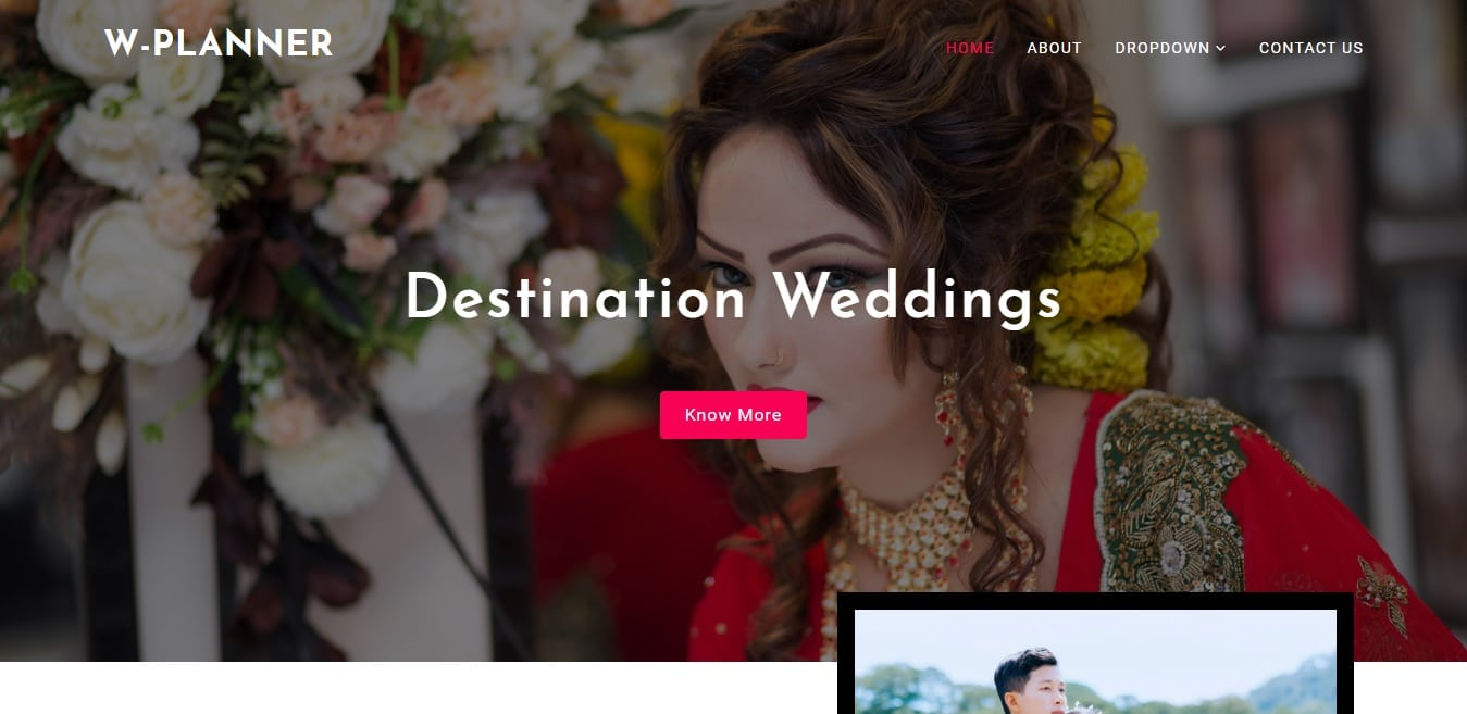 wedding planner wedding website template