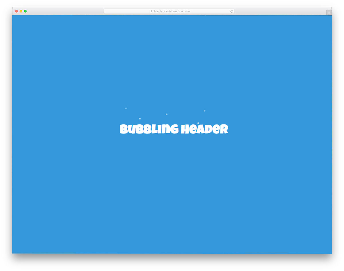 Bubbling-Text-Effect