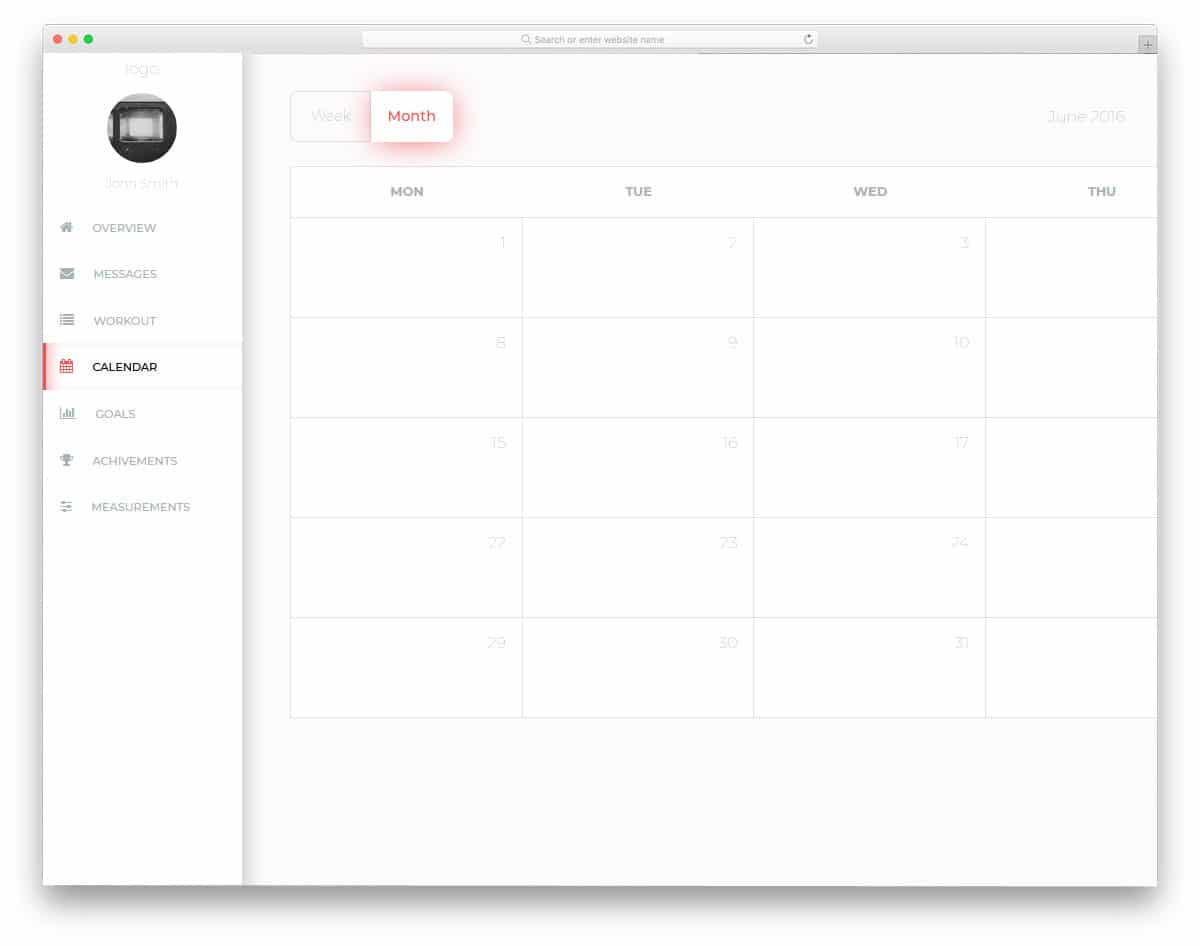 25 Cool CSS calendar Inspiration For Your Web And Mobile