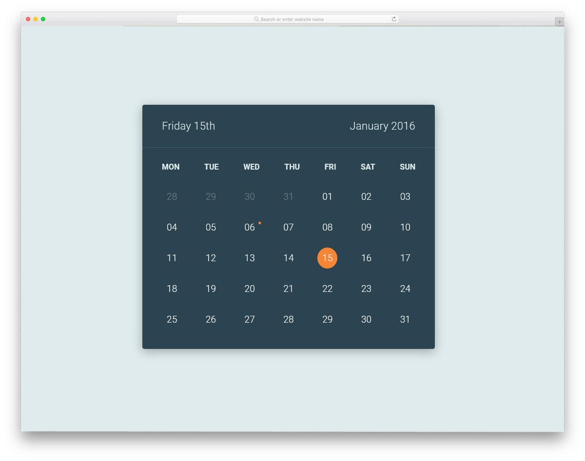 Calendar-Flip-Animation
