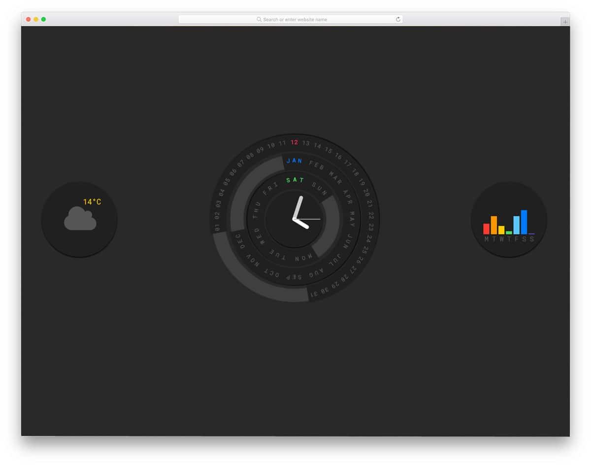 Circular-Calendar-Display
