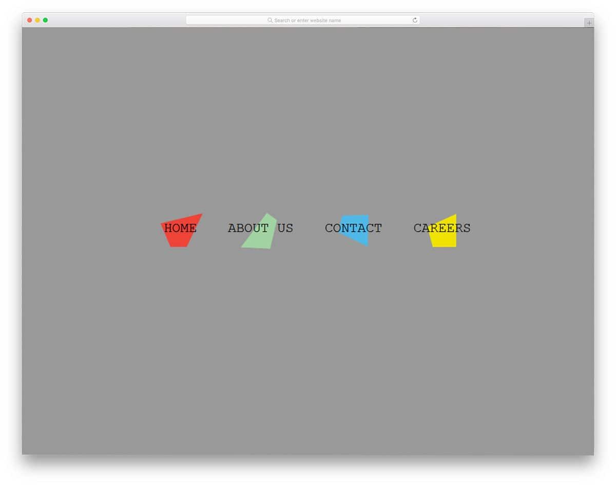 Clip-path-CSS-Menu-Concept