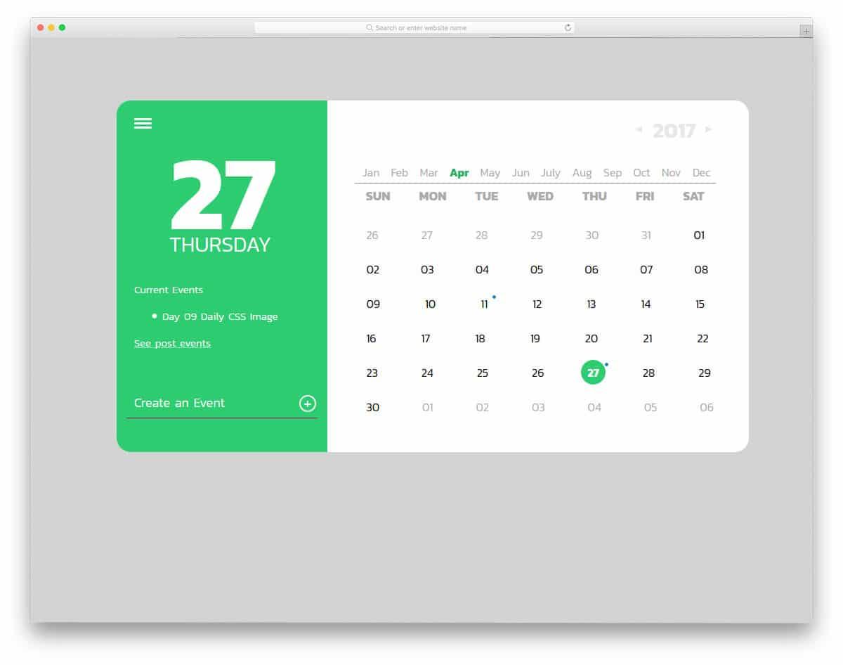 Daily-CSS-Calendar