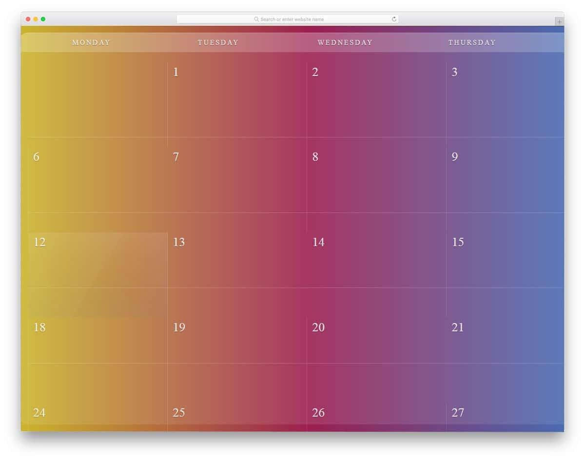 Flexible-Calendar