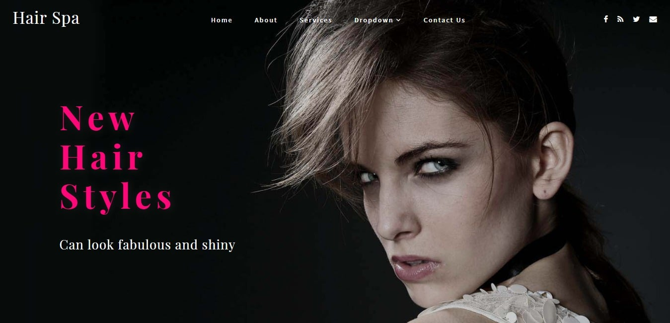 Hair Spa a Beauty and Spa Bootstrap web Template