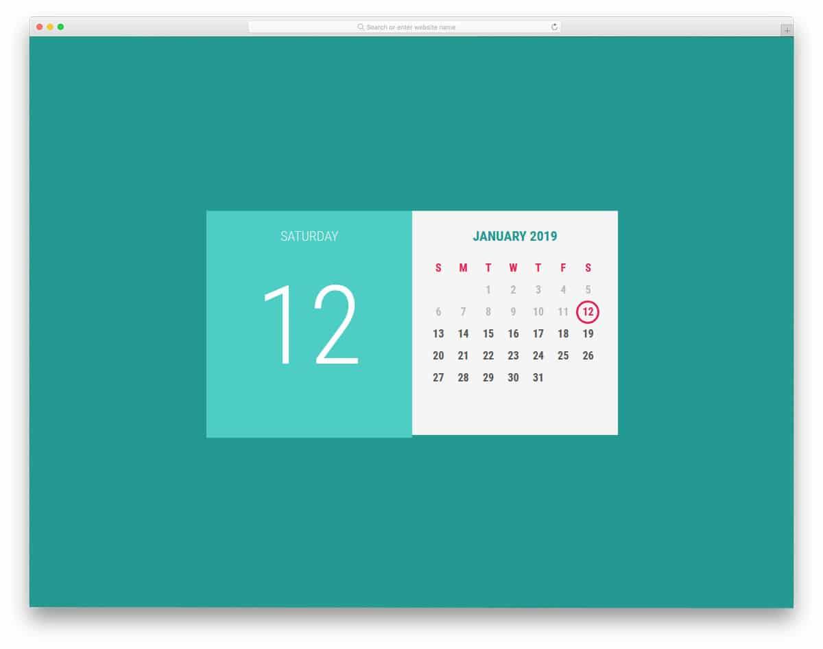Haml-Calendar