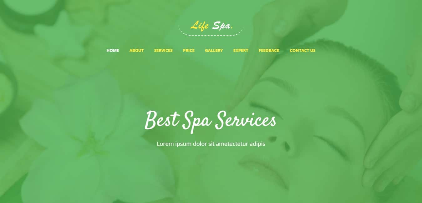Life Spa Bootstrap 4 Website Template