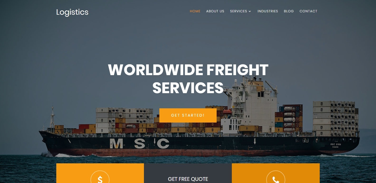 Logistics-transportation-free-Website Template