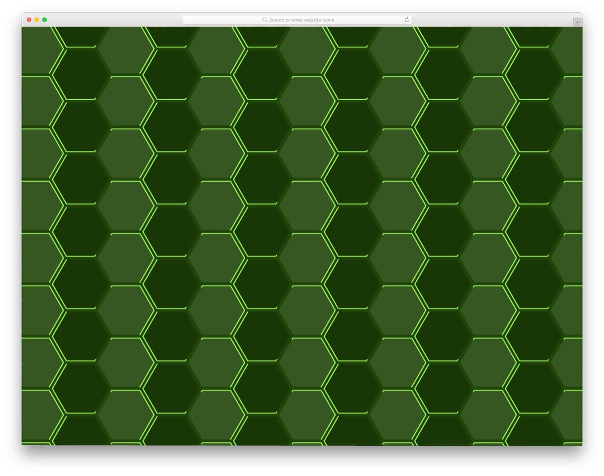 Neon-Hexagons-Pattern