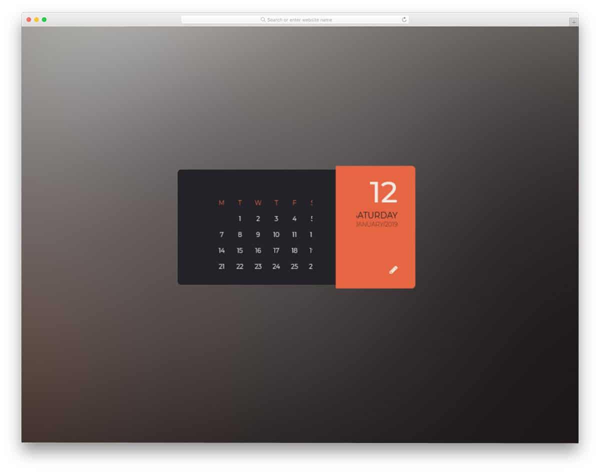 Parallax-Flipping-Calendar