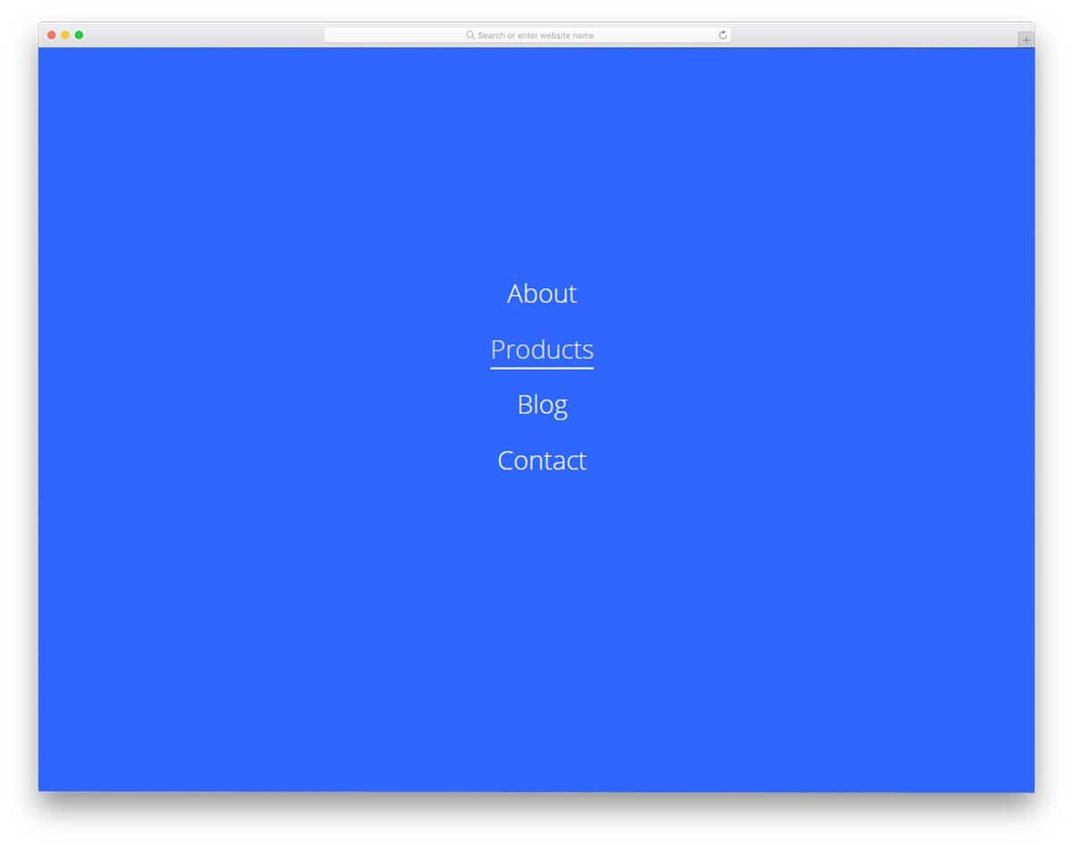 Pure-CSS-Fullscreen-Navigation-Menu