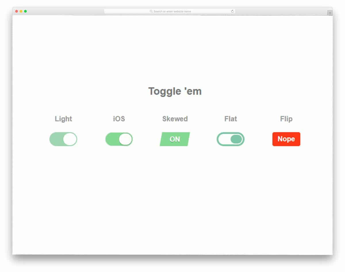 Pure-CSS-Toggle-Buttons