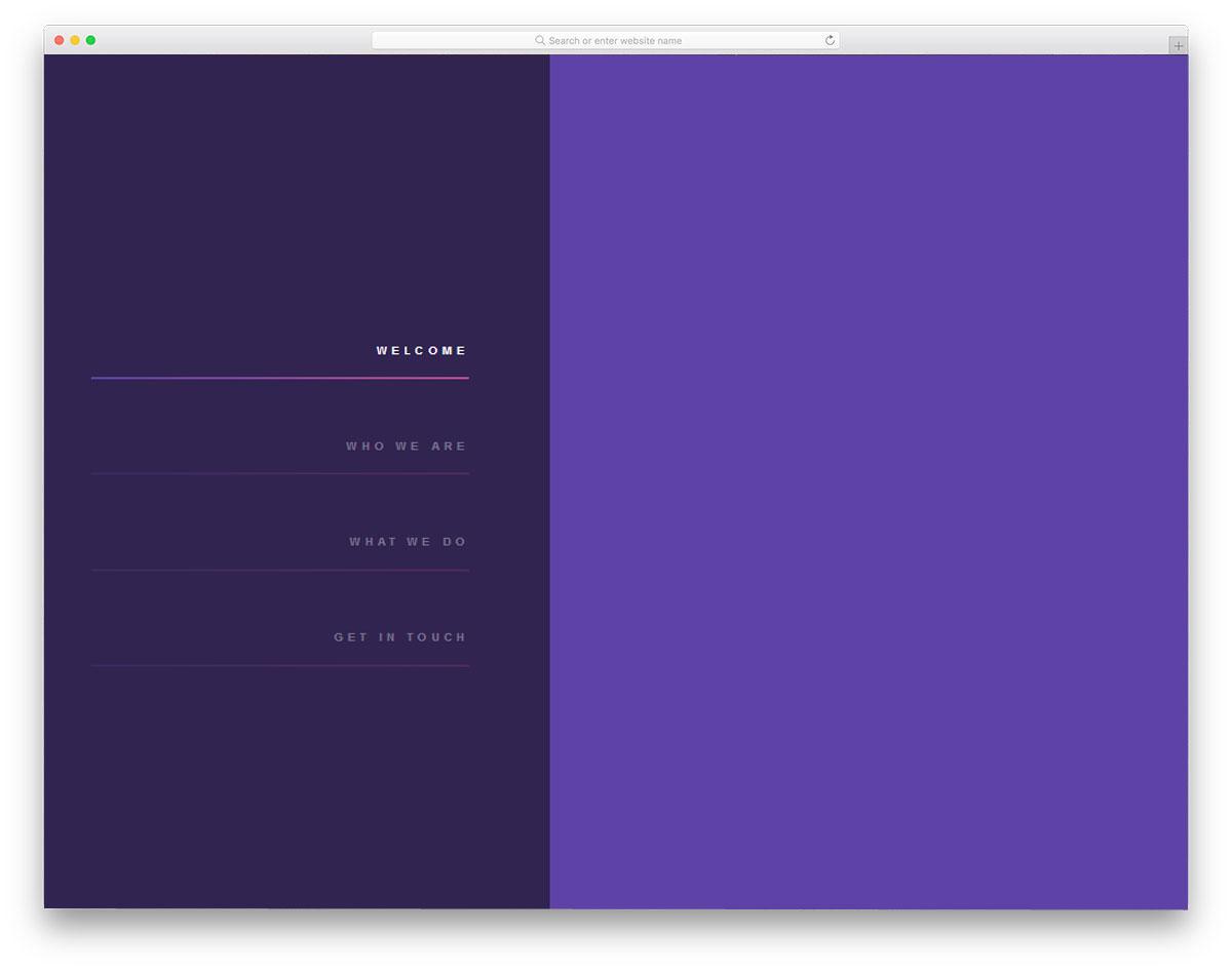 Purple-Sidebar-Menu