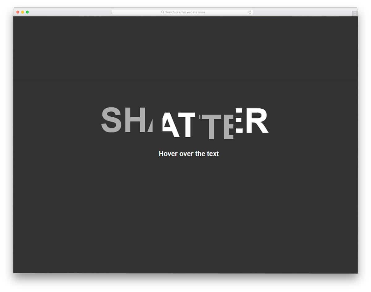 Shatter-Text-Effect