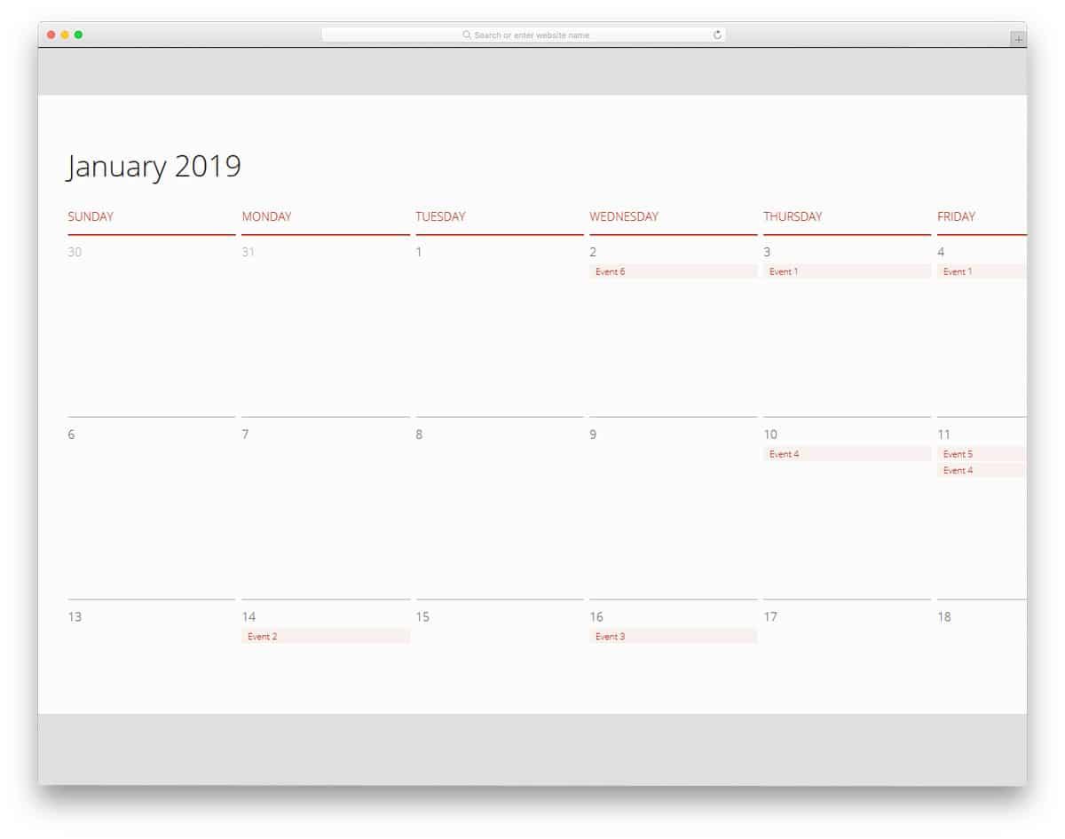 VueJS-Calendar-Component