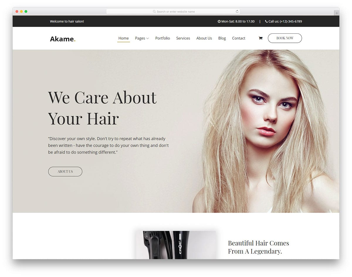 35 Properly Groomed Free Hair Salon Website Templates 2021