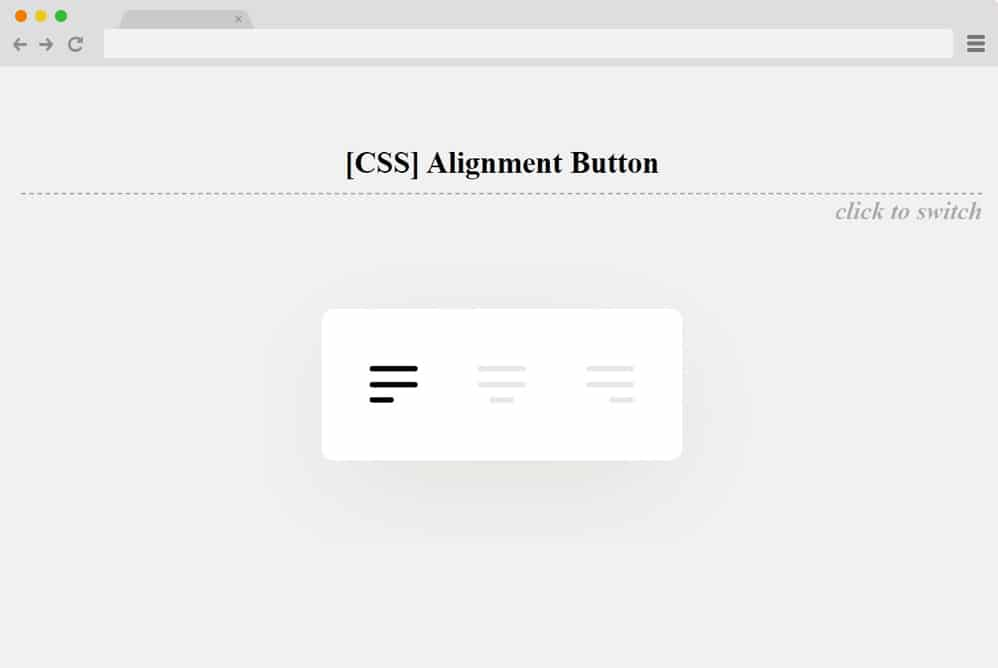 alignment button