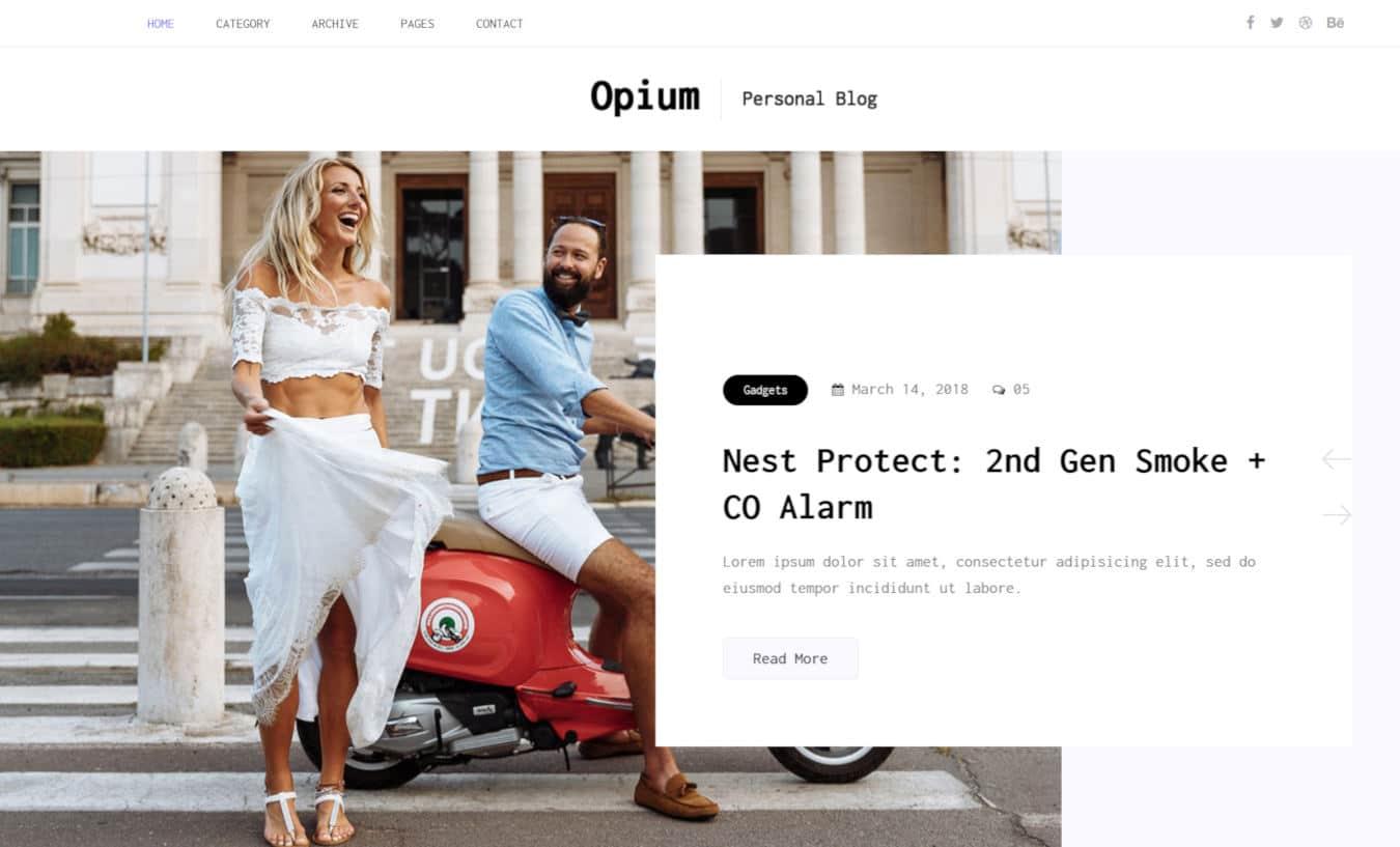 blogger templates - opium