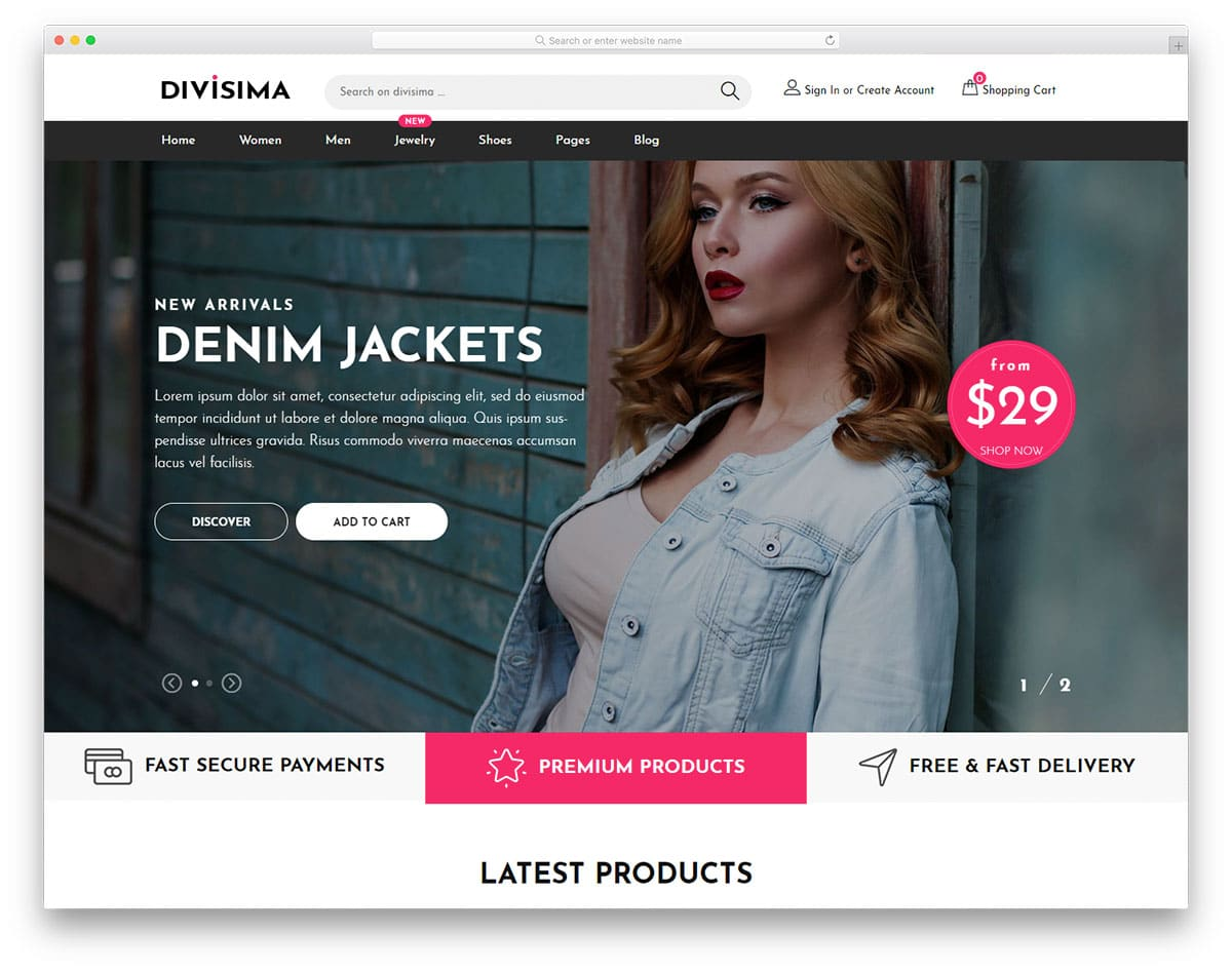 divisima-free-shopping-websites-templates
