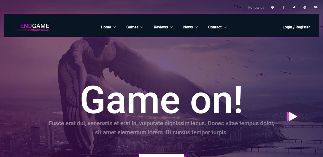 endgam free simple website template