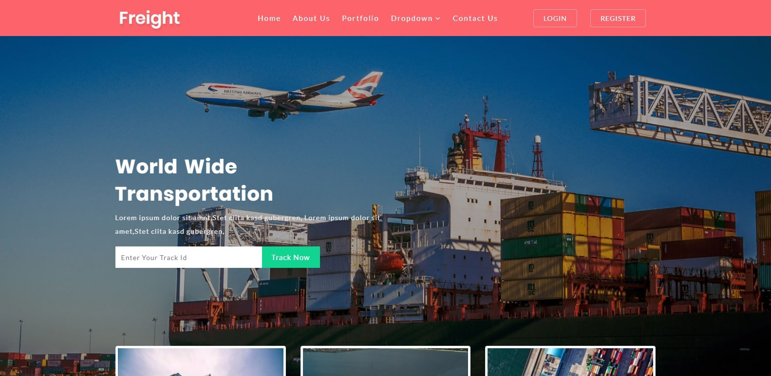 freight-free-transportation-template