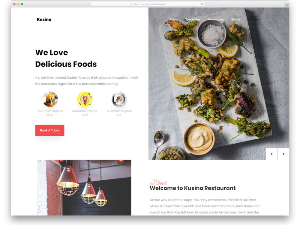 28 Best Ever Free Restaurant Website Templates Of 2019