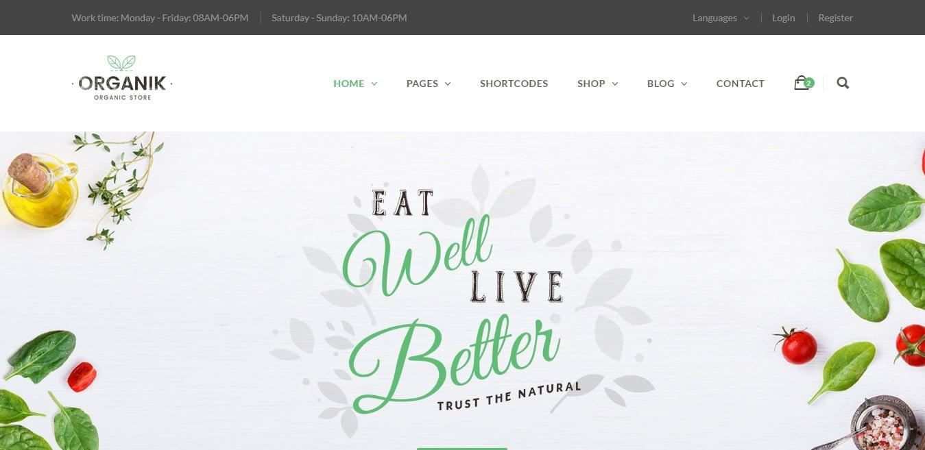 organik agriculture website template