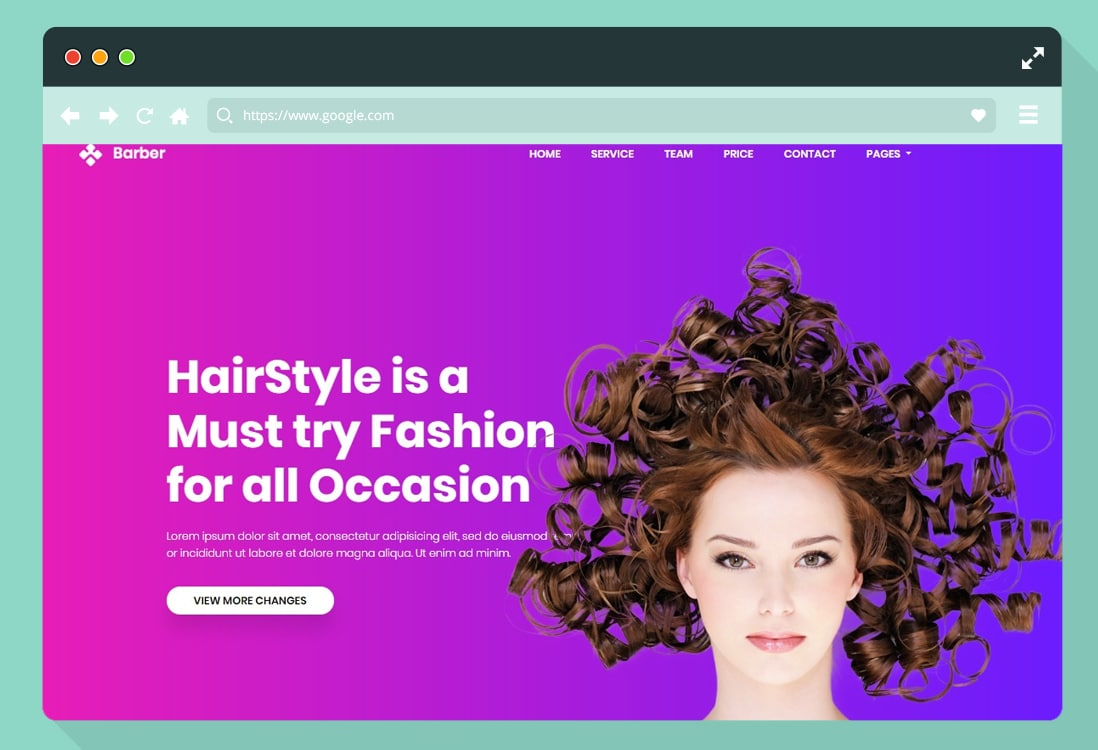 salon and spa-website templates