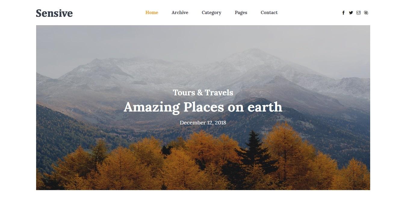sensive free simple website template