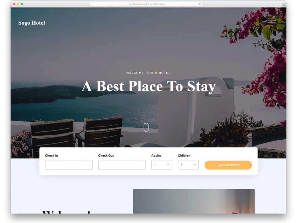 30 Free Bootstrap Hotel Templates To Get Your Hotel Fully