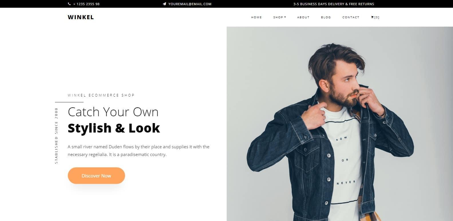 winkel software it Website Template