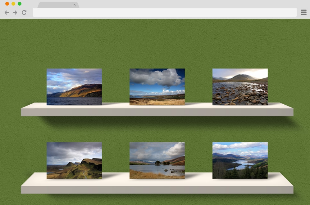 3d CSS Gallery css image gallery
