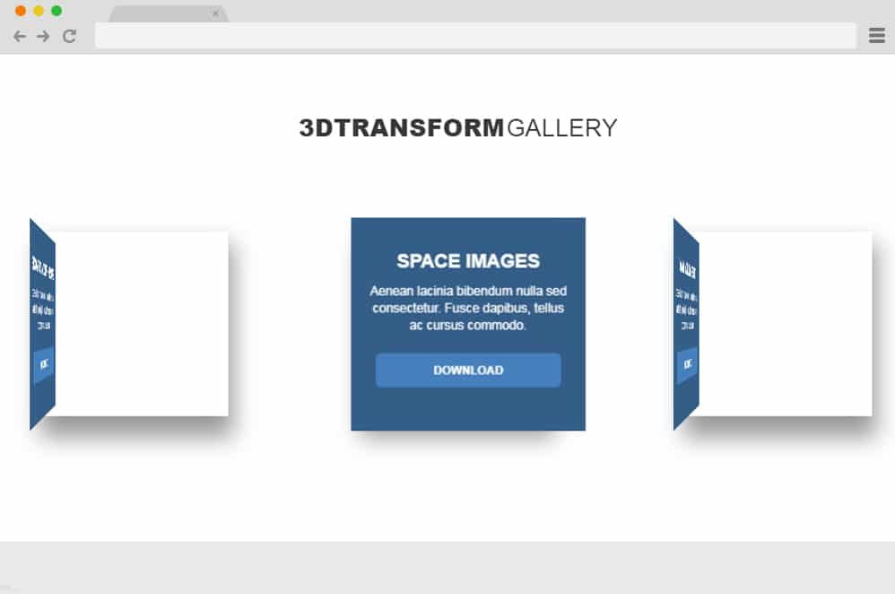CSS 3D Transform Gallery css image gallery