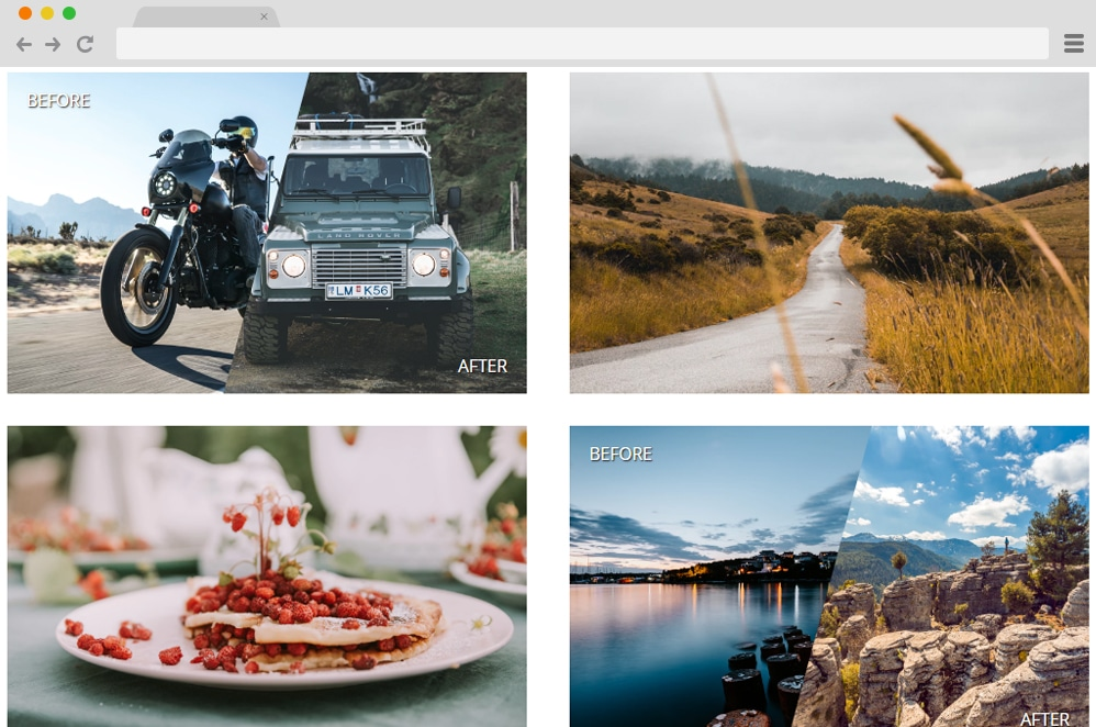 CSS Gallery with Before & After Images css image gallery