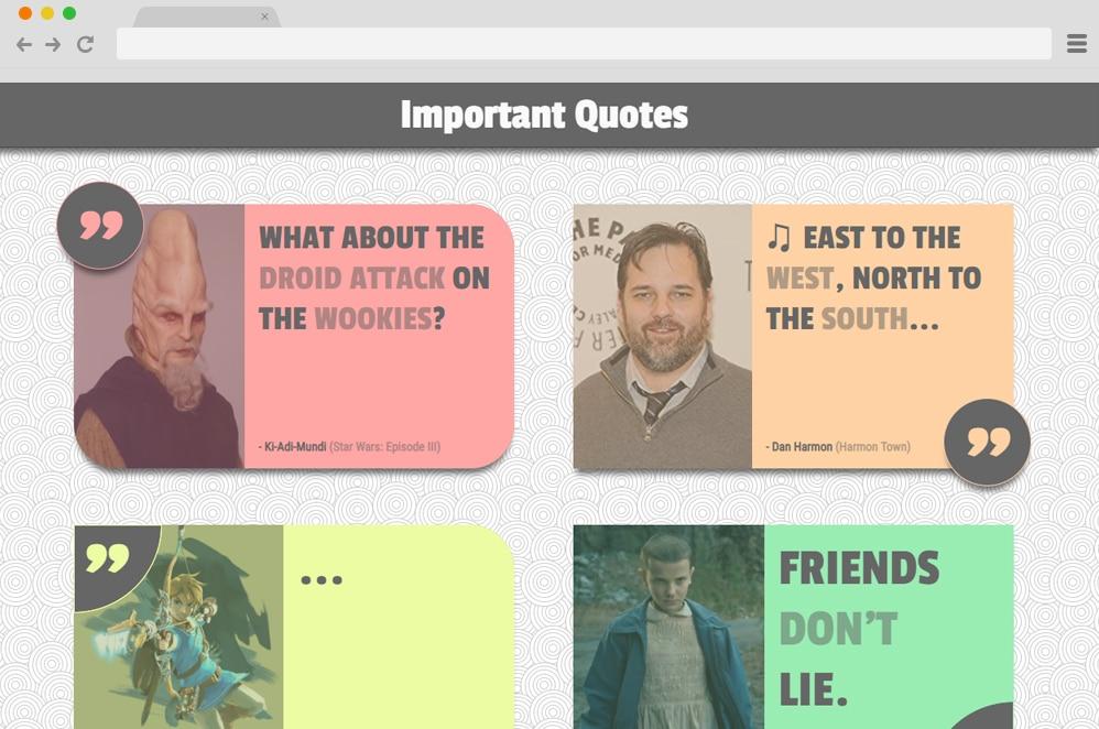 CSS Quote Cards CSS Blockquote