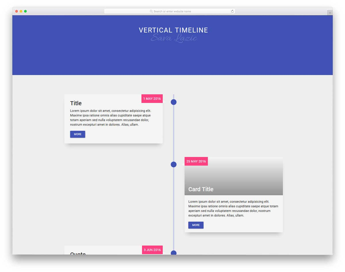 24 Clean CSS Timeline Design To Clearly Explain The Events