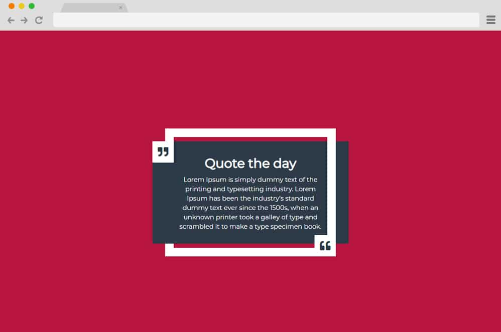CSS quote Box Hover Effect CSS Blockquote