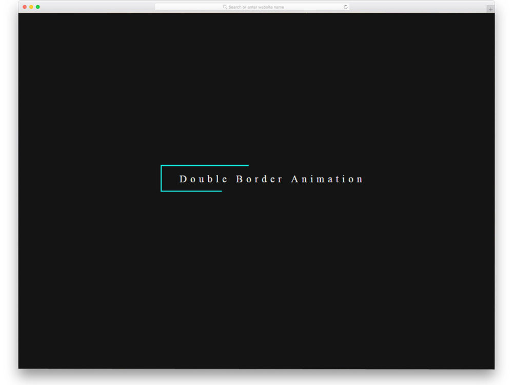 Double-Border-Animation