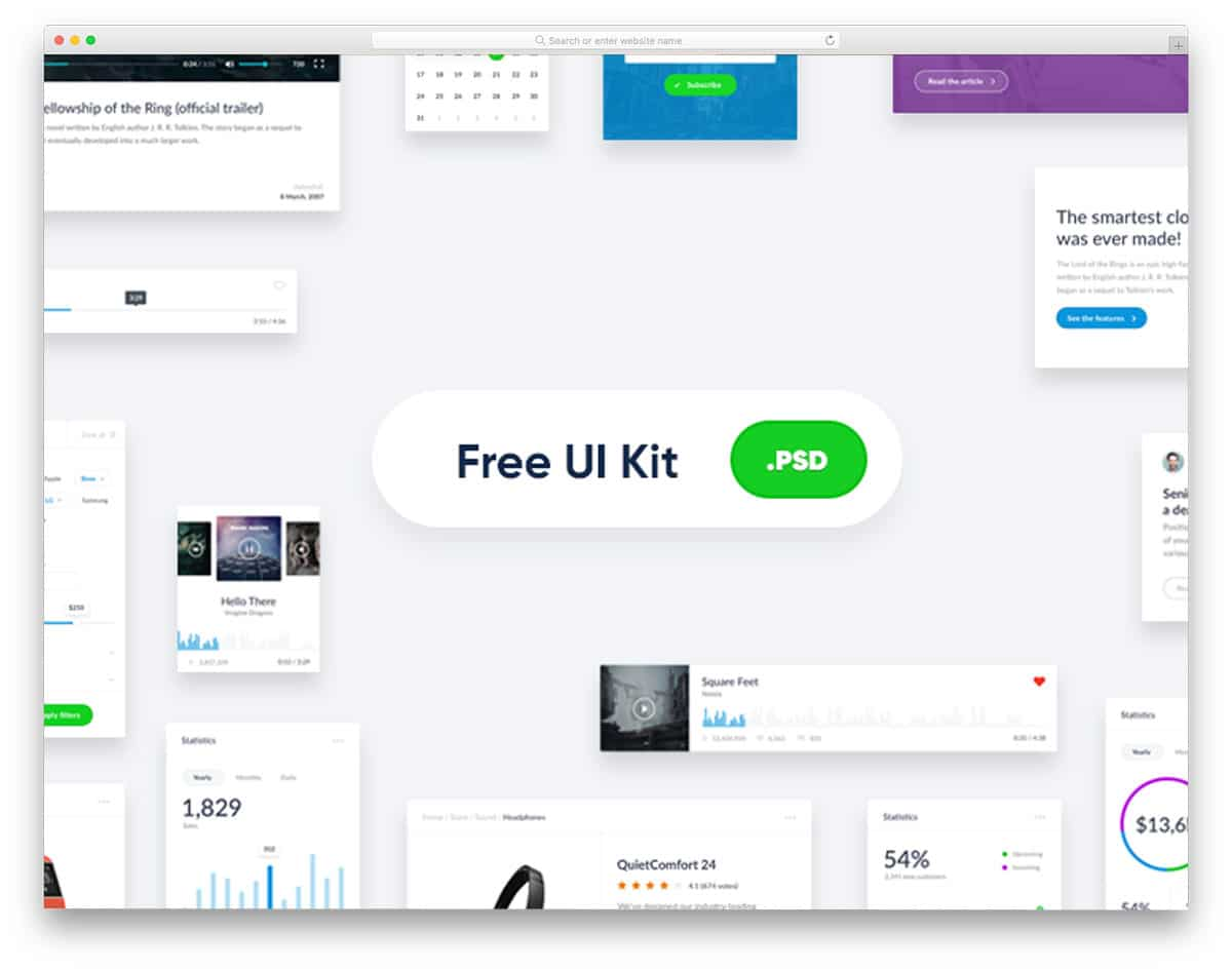 32 Free UI kits Designed For Modern Devices And Platforms 2019