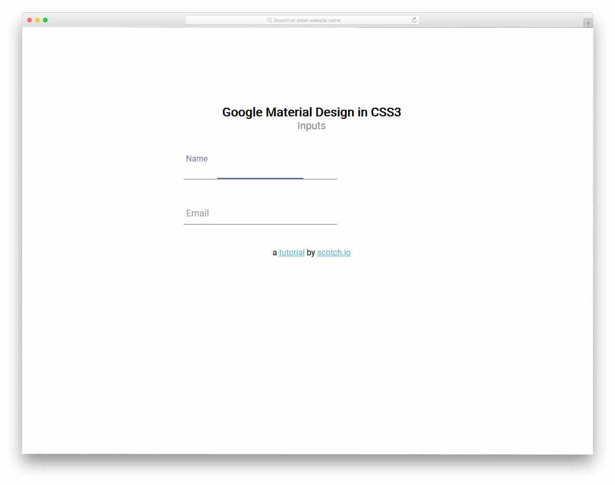 input field in material design